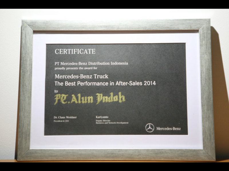 Mercedes Benz Commercial Vehicles - The Best Performance in After Sales 2014